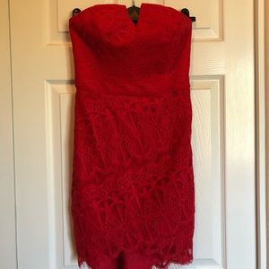 Adelyn Rae red lace dress